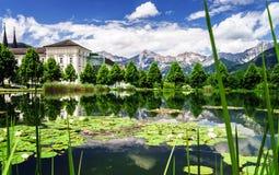 Λίμνη κρίνων νερού στην Αυστρία Στοκ φωτογραφία με δικαίωμα ελεύθερης χρήσης
