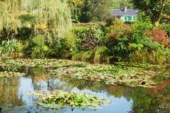 Λίμνη κρίνων νερού Monet σε Giverny Στοκ Φωτογραφίες
