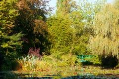 Λίμνη κρίνων νερού Monet σε Giverny Στοκ φωτογραφίες με δικαίωμα ελεύθερης χρήσης