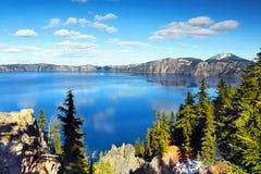 Λίμνη κρατήρων, εθνικό πάρκο, Όρεγκον Ηνωμένες Πολιτείες Στοκ φωτογραφία με δικαίωμα ελεύθερης χρήσης