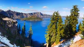 Λίμνη κρατήρων, εθνικό πάρκο, Όρεγκον Ηνωμένες Πολιτείες Στοκ Φωτογραφία