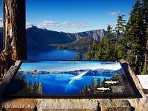 Λίμνη κρατήρων, εθνικό πάρκο, Όρεγκον, Ηνωμένες Πολιτείες Στοκ φωτογραφία με δικαίωμα ελεύθερης χρήσης