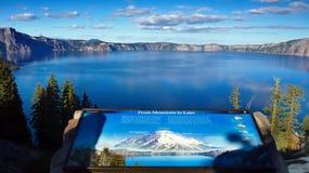 Λίμνη κρατήρων, εθνικό πάρκο, Όρεγκον, Ηνωμένες Πολιτείες Στοκ Εικόνα