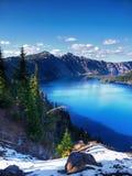 Λίμνη κρατήρων, εθνικό πάρκο, Όρεγκον Στοκ φωτογραφία με δικαίωμα ελεύθερης χρήσης