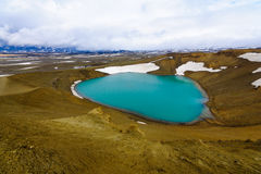 Λίμνη κρατήρων στο ηφαίστειο Krafla Στοκ Εικόνες