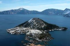 Λίμνη κρατήρων - Όρεγκον - Ηνωμένες Πολιτείες της Αμερικής στοκ φωτογραφία με δικαίωμα ελεύθερης χρήσης