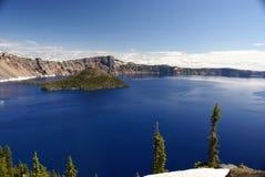 Λίμνη κρατήρων, Όρεγκον, ΗΠΑ Στοκ Φωτογραφίες