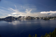 Λίμνη κρατήρων, Όρεγκον, ΗΠΑ Στοκ Φωτογραφία