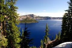 Λίμνη κρατήρων, Όρεγκον, ΗΠΑ Στοκ φωτογραφία με δικαίωμα ελεύθερης χρήσης