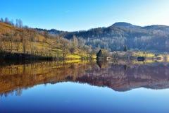 Λίμνη κυανιδίου σε Geamana Ρουμανία Στοκ εικόνα με δικαίωμα ελεύθερης χρήσης