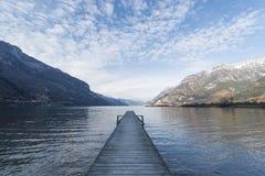 Λίμνη Λουκέρνη στο καντόνιο Uri όρη Ελβετία στοκ φωτογραφίες