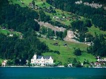 λίμνη Λουκέρνη luzern Ελβετία Στοκ Φωτογραφίες