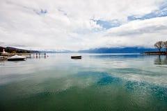 λίμνη Λωζάνη Ελβετία της Γενεύης Στοκ φωτογραφία με δικαίωμα ελεύθερης χρήσης