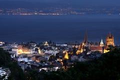 λίμνη Λωζάνη Ελβετία της Γ&ep Στοκ Εικόνες