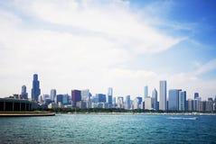 Λίμνη Μίτσιγκαν και ο ορίζοντας του Σικάγου Στοκ φωτογραφία με δικαίωμα ελεύθερης χρήσης