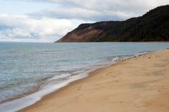 λίμνη Μίτσιγκαν παραλιών στοκ εικόνα
