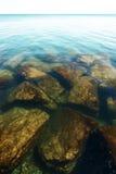 Λίμνη Μίτσιγκαν όπως βλέπει από την ακτή στο Σικάγο στοκ εικόνες με δικαίωμα ελεύθερης χρήσης