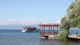 Λίμνη Μακεδονία της Οχρίδας απόθεμα βίντεο
