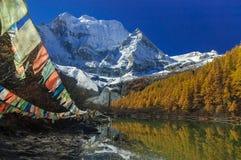 Λίμνη μαργαριταριών στην επιφύλαξη φύσης Yading στοκ φωτογραφίες με δικαίωμα ελεύθερης χρήσης