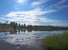 Λίμνη με τις αντανακλάσεις Στοκ Εικόνες
