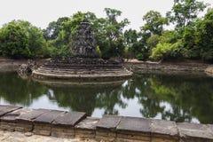 Λίμνη ναών σε Angkor Wat, Καμπότζη Στοκ φωτογραφίες με δικαίωμα ελεύθερης χρήσης