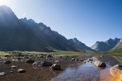 Λίμνη νεράιδων της Κίνας Qinghai Στοκ Εικόνες
