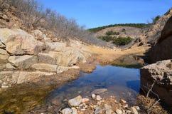 Λίμνη νερού στο φαράγγι στοκ εικόνες με δικαίωμα ελεύθερης χρήσης