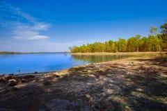 Λίμνη, νερό, άνοιξη, καλοκαίρι, αντανάκλαση στοκ εικόνες