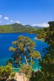 λίμνη νησιών της Κροατίας mljet Στοκ Εικόνες