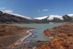 λίμνη Νορβηγία παγετώνων Στοκ Εικόνα
