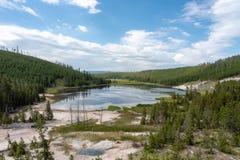 Λίμνη νυμφών και γεωθερμικά χαρακτηριστικά γνωρίσματα στοκ εικόνα