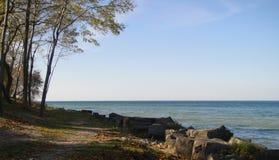 Λίμνη Οντάριο που διακρίνεται από Niagara στη λίμνη Στοκ Εικόνες