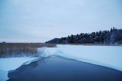 λίμνη πάγου τρυπών Στοκ Φωτογραφίες