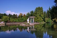 λίμνη πάρκων δενδρολογικ Στοκ φωτογραφία με δικαίωμα ελεύθερης χρήσης