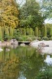Λίμνη πάρκων το φθινόπωρο Στοκ εικόνες με δικαίωμα ελεύθερης χρήσης