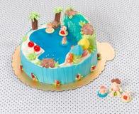 λίμνη παιδιών κέικ γενεθλί&ome Στοκ Φωτογραφία