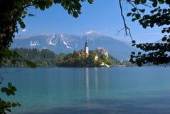 Λίμνη που αιμορραγείται, Σλοβενία Στοκ Φωτογραφία