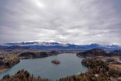 Λίμνη που αιμορραγείται στη Σλοβενία στοκ εικόνες με δικαίωμα ελεύθερης χρήσης