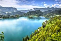 Λίμνη που αιμορραγείται, Σλοβενία Στοκ Εικόνες