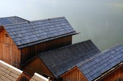 λίμνη σπιτιών βαρκών της Αυσ Στοκ Εικόνα