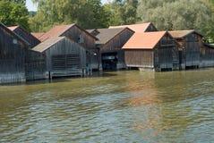 λίμνη σπιτιών βαρκών ammersee Στοκ Φωτογραφία