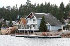 λίμνη σπιτιών Στοκ Φωτογραφία
