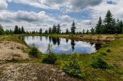 Λίμνη στα βουνά Izerski Στοκ εικόνες με δικαίωμα ελεύθερης χρήσης