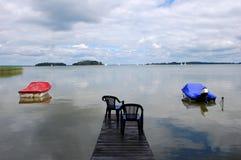 λίμνη στη Βαλτική, Ευρώπη Στοκ Εικόνες