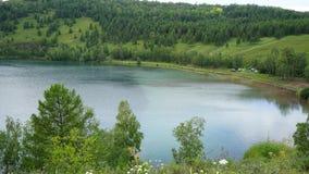 Λίμνη στη Σιβηρία στοκ φωτογραφία