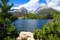Λίμνη στη Σλοβακία Στοκ Φωτογραφίες