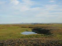 Λίμνη στη tundra θέση στοκ φωτογραφίες