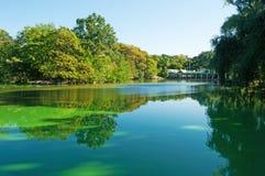 Λίμνη στο κεντρικό πάρκο, Νέα Υόρκη Στοκ Φωτογραφία