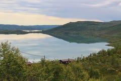 Λίμνη στο οροπέδιο βουνών Hardanger, Νορβηγία, Ευρώπη Στοκ Εικόνες