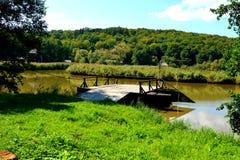 Λίμνη στο ρουμανικό μουσείο αγροτών, Dumbrava Sibiului, Τρανσυλβανία Στοκ φωτογραφία με δικαίωμα ελεύθερης χρήσης
